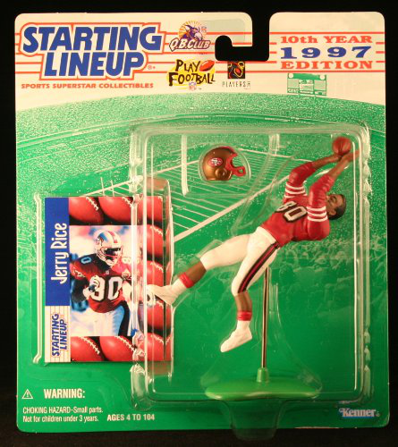 Jerry Rice / San Francisco 49ERS 1997 Nfl Starting Lineup Action Figure And Exclusive Nfl Collector Trading Card